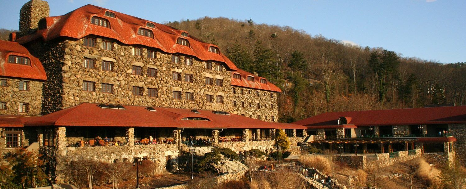 It is a one-century old hotel and during World War II it was used as a prison. The prisoners were Axis diplomats held by the State Department.